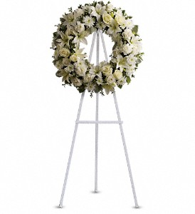 Serenity Wreath in Pleasanton CA, Bloomies On Main LLC