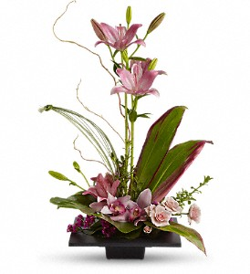 Imagination Blooms with Cymbidium Orchids in Thorold ON, A Yellow Flower Basket