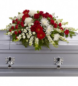 Strength and Wisdom Casket Spray in Big Rapids, Cadillac, Reed City and Canadian Lakes MI, Patterson's Flowers, Inc.