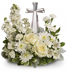 Teleflora's Divine Peace Bouquet in Bloomington IL, Forget Me Not Flowers