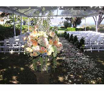 Wedding Ceremony in West Los Angeles CA, Westwood Flower Garden
