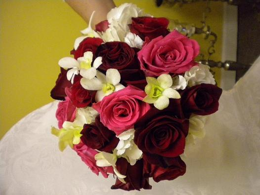 Red rose bouquet in Bensenville IL, The Village Flower Shop