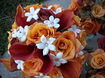fall bridal bouquet in Bensenville IL, The Village Flower Shop