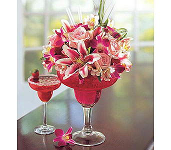 Strawberry Floral Margarita in Bradenton FL, Ms. Scarlett's Flowers & Gifts