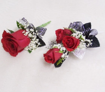 Red Rose Corsage with Boutonni in Mesa AZ, Watson Flower Shops