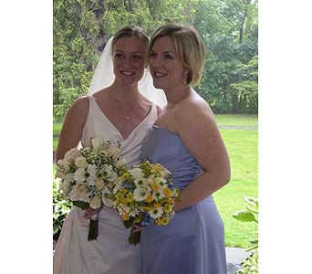 Bride and her Sister in Hanover PA, Country Manor Florist
