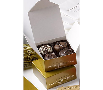 4 Piece Box Assorted Truffles in New Haven CT, The Blossom Shop