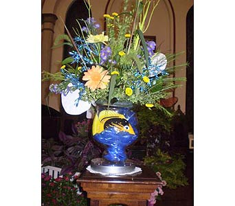 An Altar Vase in Loving Memory of a Fisherman in Hanover PA, Country Manor Florist