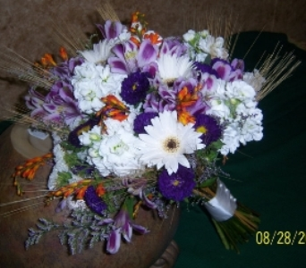 Touch of fall Bridal Bouquet in Athens OH, Jack Neal Floral