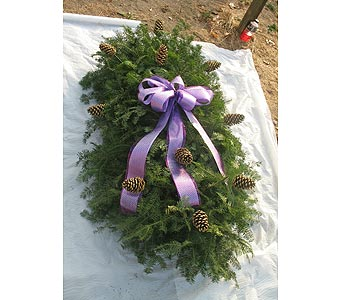 5 Foot Blanket with Pine Cones in Southfield MI, McClure-Parkhurst Florist