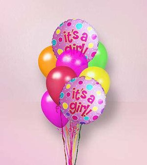 Steve's It's a Girl Balloon Bouquet in Indianapolis IN, Steve's Flowers and Gifts