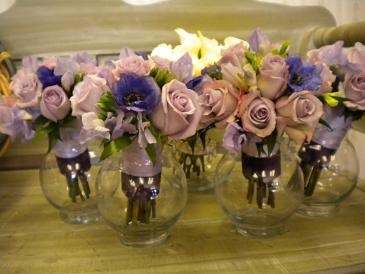 Lavender with a touch of blue in Bensenville IL, The Village Flower Shop