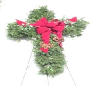 Evergreen Crosses and Hearts in Waukegan IL, Larsen Florist