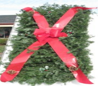 Evergreen Graveblankets and Pillows in Waukegan IL, Larsen Florist