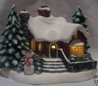 Thomas Kinkade Village Christmas in Athens OH, Jack Neal Floral