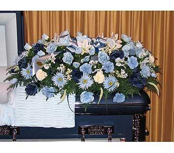 Silk casket spray in kentwood la glendas flowers gifts llc silk casket spray in kentwood la glendas flowers gifts mightylinksfo