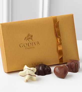 Godiva� Gold Ballotin Assorted Chocolates - 8-piec in Chicago IL, Yera's Lake View Florist