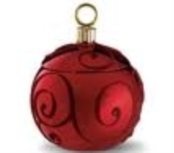 Red ruby swirl Radko ornament in Athens OH, Jack Neal Floral