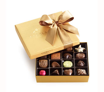 Godiva� Gold Ballotin Assorted Chocolates 19pc in Bayside NY, Bell Bay Florist