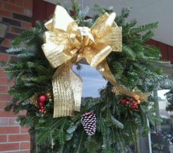 Golden Door Wreath in Westland MI, Westland Florist & Greenhouse