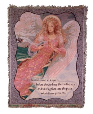 Behold I Send An Angel Tapestry Throw in Indianapolis IN, Steve's Flowers and Gifts