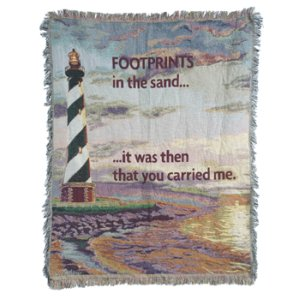 It Was Then You Carried Me Tapestry Throw in Indianapolis IN, Steve's Flowers and Gifts