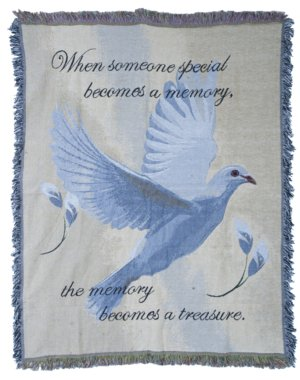 Dove Tapestry Throw in Indianapolis IN, Steve's Flowers and Gifts