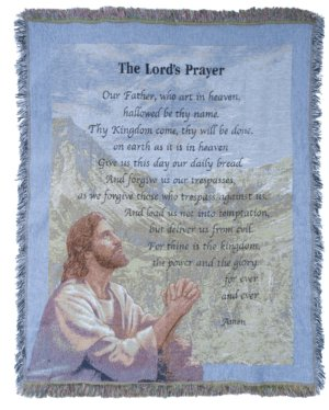 The Lord's Prayer Tapestry Throw in Indianapolis IN, Steve's Flowers and Gifts