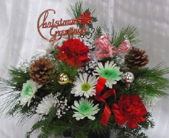 PETITE FLORISTS HOLIDAY ARRANGEMENT in Bellmore NY, Petite Florist