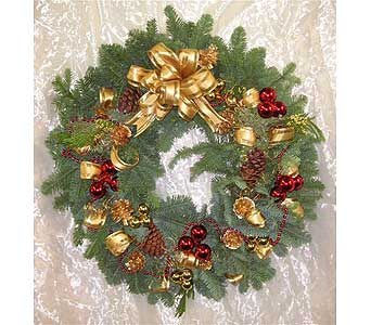Holiday Gold Wreath in West Los Angeles CA, Westwood Flower Garden