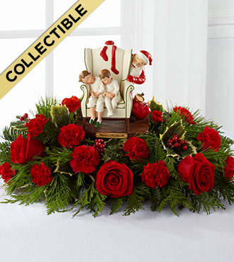 The Norman Rockwell� Centerpiece in Chicago IL, Yera's Lake View Florist