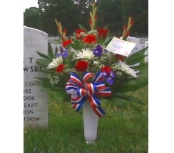 PATRIOTIC TRIBUTE ARRANGEMENT in Arlington VA, Twin Towers Florist