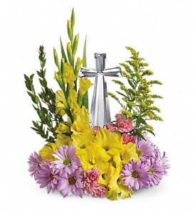Teleflora's Crystal Cross Bouquet in Columbus IN, Fisher's Flower Basket