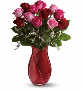 Teleflora's Say I Love You Bouquet - Dozen Roses in Belford NJ, Flower Power Florist & Gifts