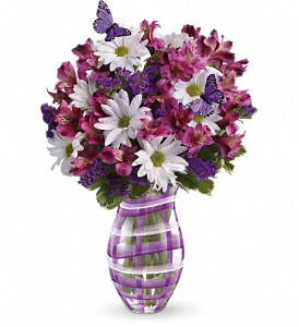 Teleflora's Lavender Plaid Bouquet in Surrey BC, Brides N' Blossoms Florists