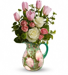 Teleflora's Spring Pitcher Bouquet in Grass Lake MI, Designs By Judy
