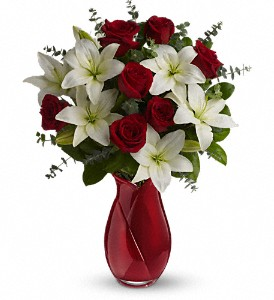 Teleflora's Look of Love Bouquet in The Woodlands TX, Rainforest Flowers