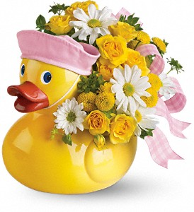 Teleflora's Ducky Delight - Girl in Commerce Twp. MI, Bella Rose Flower Market