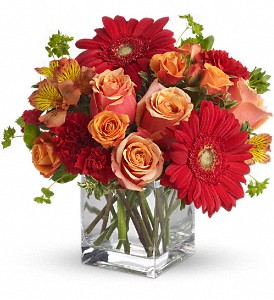 Santa Fe Sunset Bouquet by Teleflora in Garden City NY, Hengstenberg's Florist Inc.
