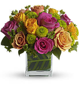 Teleflora's Color Me Rosy Bouquet in Moncton NB, Macarthur's Flower Shop