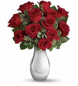 Teleflora's True Romance Bouquet with Red Roses in Hendersonville NC, Forget-Me-Not Florist