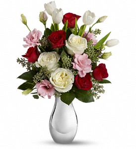 Teleflora's Love Forever Bouquet with Red Roses in Jamesburg NJ, Sweet William & Thyme