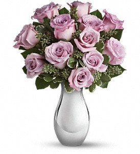 Teleflora's Roses and Moonlight Bouquet in Dubuque IA, New White Florist