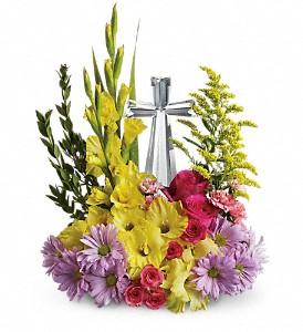 Teleflora's Crystal Cross Bouquet DX in San Juan PR, De Flor's Flowers & Gifts