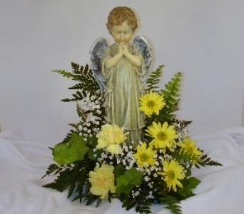 Standing Angel & flowers in Covington KY, Jackson Florist, Inc.