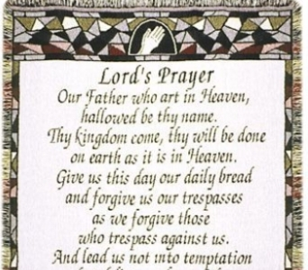 Lords Prayer Stained Glass throw in Crown Point IN, Debbie's Designs