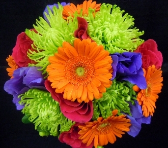 Vibrant Beauty Wedding Bouquet in Portland ME, Dodge The Florist