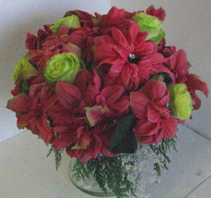 Winter Rose Bouquet in Waukegan IL, Larsen Florist