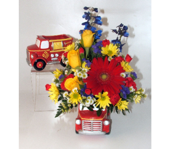 Kitty's Fire Engine Bouquet in Salisbury MD, Kitty's Flowers
