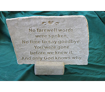 Large Farewell Stone in Louisville KY, Berry's Flowers, Inc.